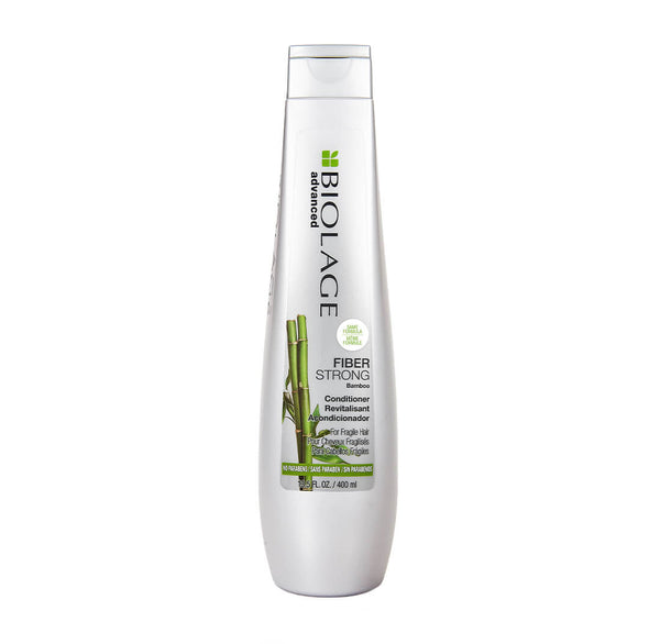 Matrix Biolage Fiberstrong Conditioner  Fragile hair tends to feel dry, lacks shine and manageability. Matrix Biolage Advanced Fiberstrong Shampoo formulated with Intra Cylane plus bamboo and ceramide to repair damaged, fragile hair. This anti-frizz shampoo hydrates damaged hair, strengthening strands to help prevent future hair breakage and split ends to create healthier looking hair.