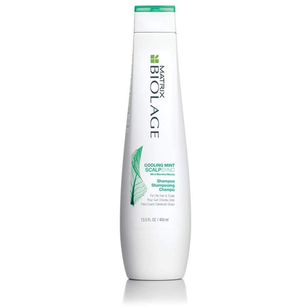 Biolage Scalpsync Cooling Mint Shampoo is the professional salon treatment that cleanses excess oil from the scalp and hair. This product awakens hair and scalp with a cool, refreshing sensation, and like the enduring and refreshing mint leaf, Scalpsync helps balance the scalp, leaving hair clean, strong and healthy.