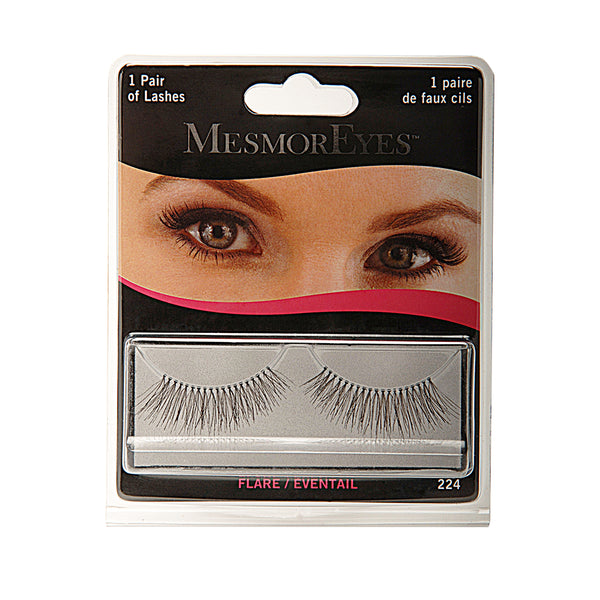 MesmorEyes Flare Full Lashes are human black hair false lashes