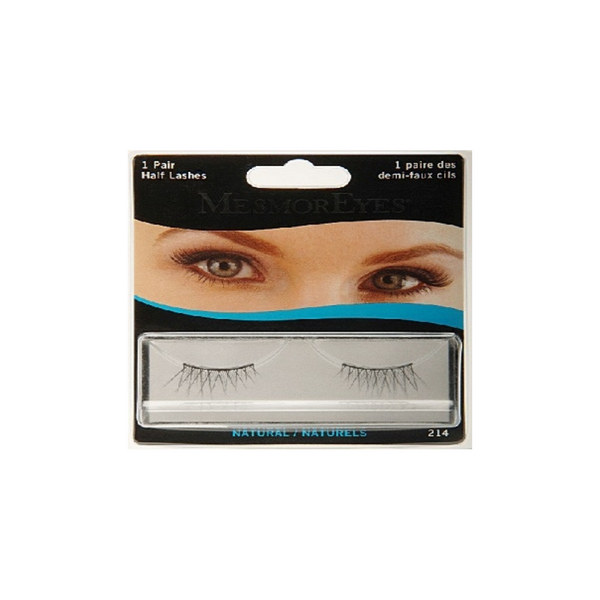 MesmorEyes Natural Half Lashes Lashes are human black hair false lashes