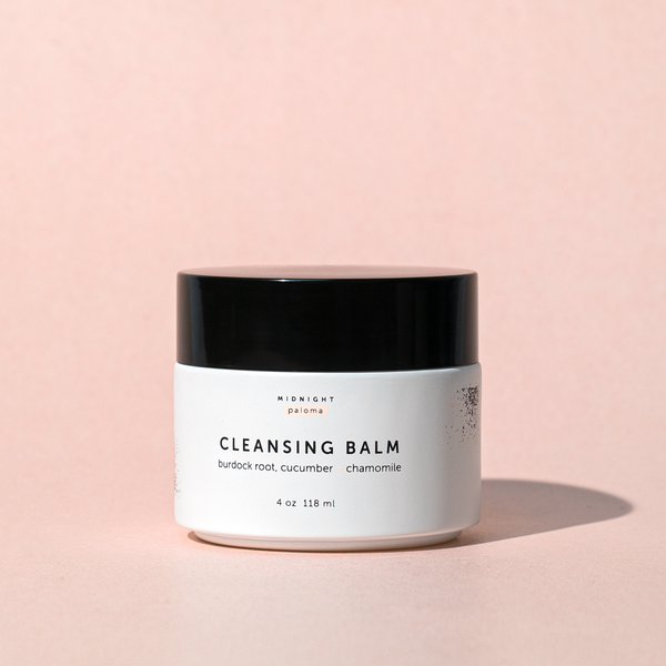 Midnight Paloma Cleansing Balm a rich balm cleanser that naturally removes dirt, makeup and impurities without over-drying the skin. It leaves your face feeling cleansed and nourished, never dry or tight.