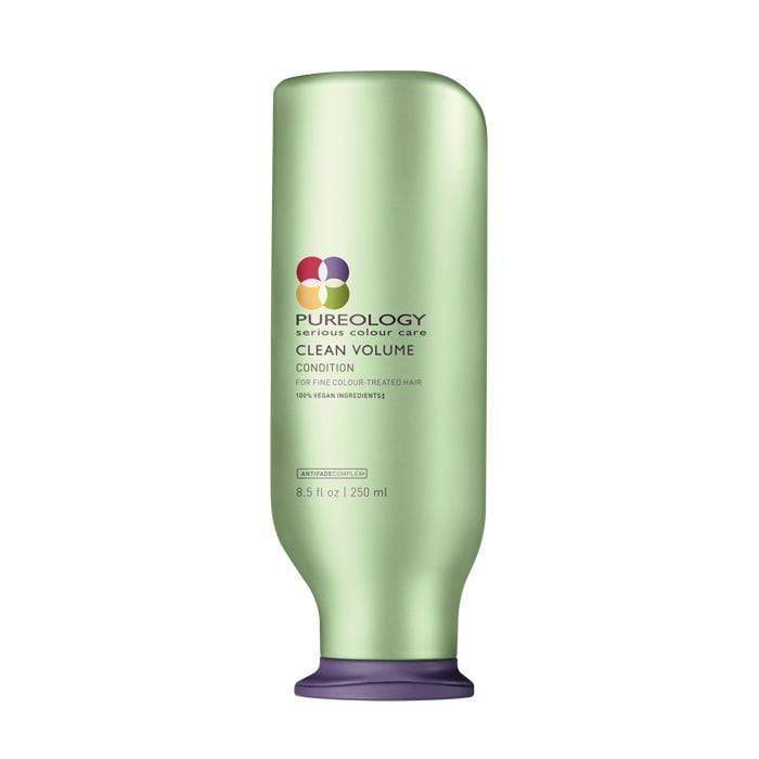 Pureology Clean Volume Conditioner detangles hair and provides lightweight volume and shine for fine, colour-treated hair 250ml/8.5oz