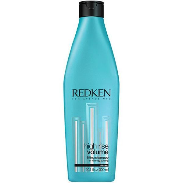 Redken High Rise Volume Lifting Shampoo; Full volumizing shampoo for fine and flat hair formulated with a body-boosting blend of Filloxane, softening and silicone polymers for a polished and silky finish complete with lift and volume.
