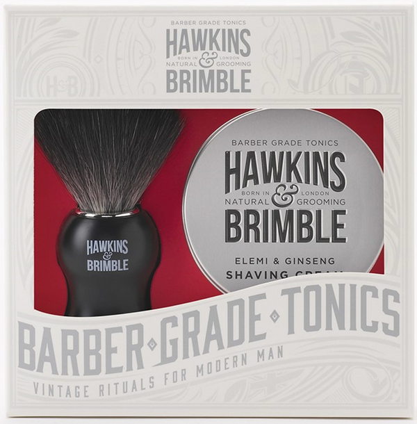 Hawkins &  Brimble Shave Set; Our Shaving Cream & Shaving Brush