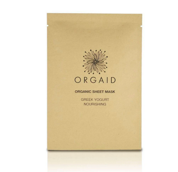 Orgaid Organic Greek Yogurt & Nourishing Sheet Face Mask Skincare