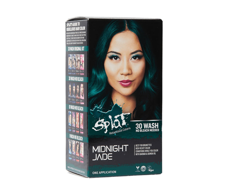 Splat At Home Hair Dye For Brunettes Midnight Complete Kit Amethyst Jade