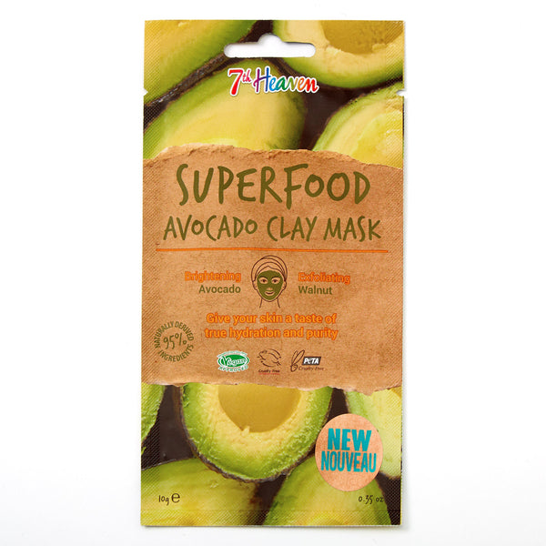 SuperFood Clay Face Mask - Avocado Clay Mask 7th Heaven