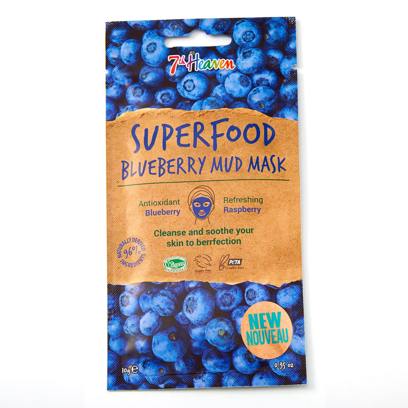 SuperFood Mud Face Masks - Blueberry Mask 7th Heaven
