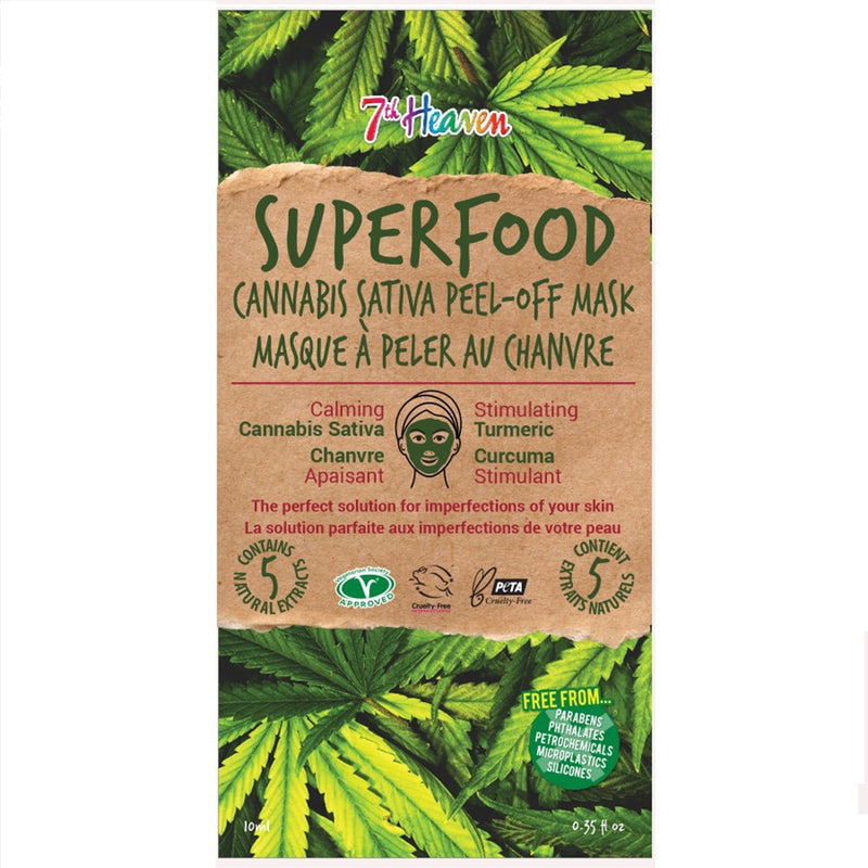 SuperFood Peel Off Face Masks - Cannabis Sativa Mask 7th Heaven