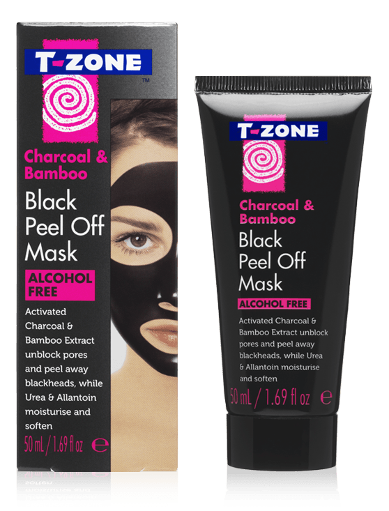 T-Zone Charcoal & Bamboo Black Peel Off Face Mask Skincare