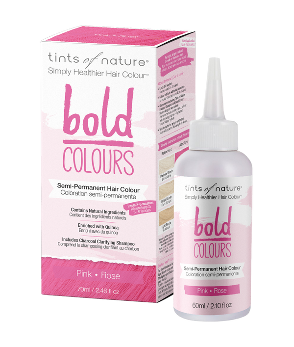 Tints of Nature Bold Colours - Pink - Semi Permanent Hair Colour Naturally Derived Ingredients