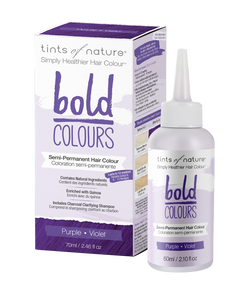 Tints of Nature Bold Colours - Purple - Semi Permanent Hair Colour Naturally Derived Ingredients
