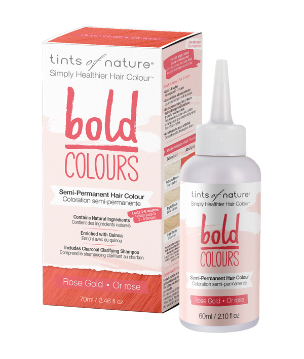 Tints of Nature Bold Colours - Rose Gold - Semi Permanent Hair Colour Naturally Derived Ingredients