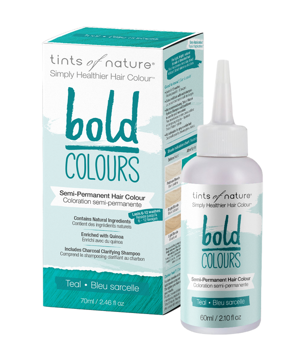 Tints of Nature Bold Colours - Teal - Semi Permanent Hair Colour Naturally Derived Ingredients