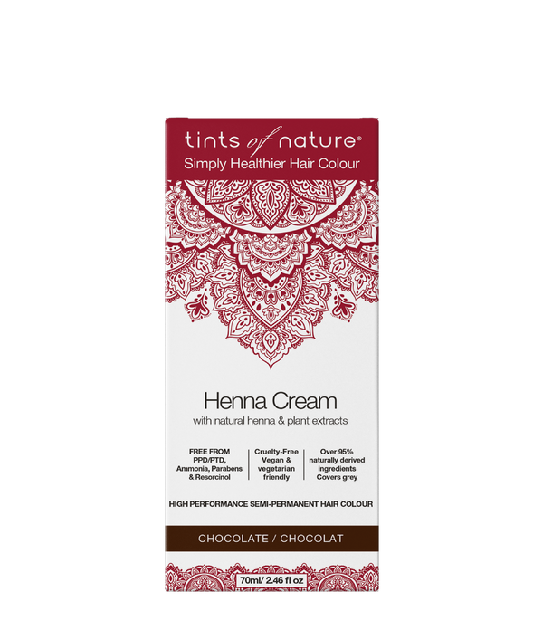 Tints of Nature Henna Cream - Chocolate - Semi Permanent Hair Dye Vegan Natural and Organic Ingredients Hair Dye
