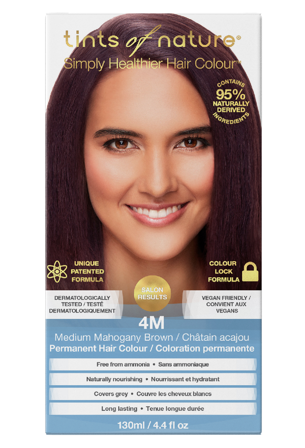 Tints of Nature Medium Mahogany Brown Hair Dye - 4M - Free of Ammonia Vegan Friendly