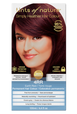 Tints of Nature Earth Red Hair Dye - 4RR - Free of Ammonia Vegan Friendly