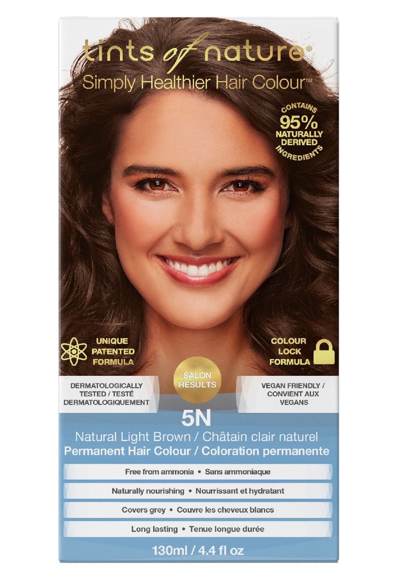Tints of Nature 95% Naturally Derived Ingredients 5N Natural Light Brown