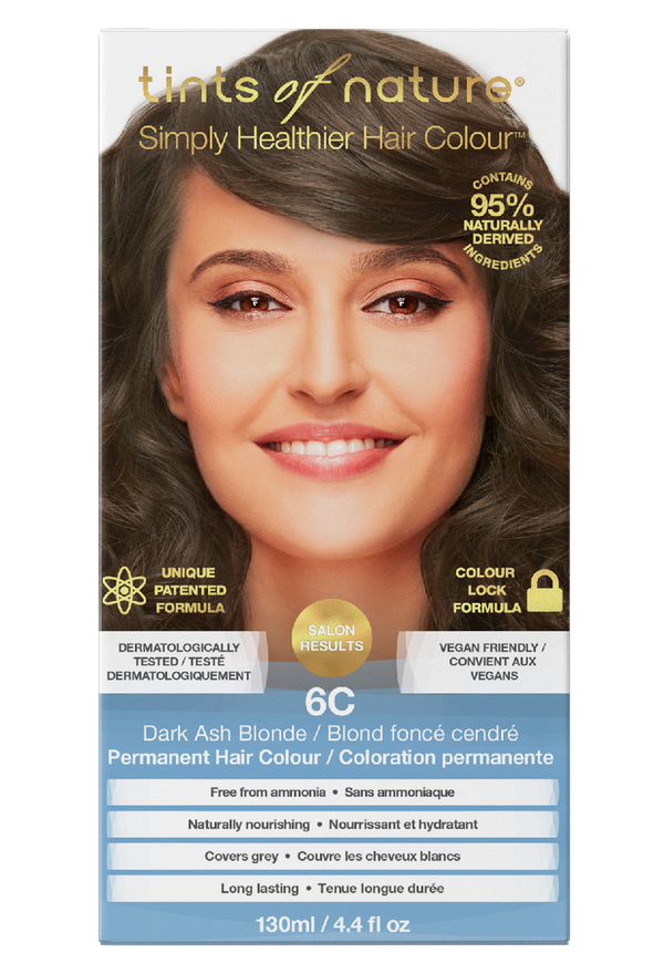 Tints of Nature Dark Ash Blonde Hair Dye - 6C - Free of Ammonia Vegan Friendly
