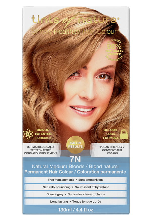 Tints of Nature Natural Medium Blonde Hair Dye - 7N - Free of Ammonia Vegan Friendly
