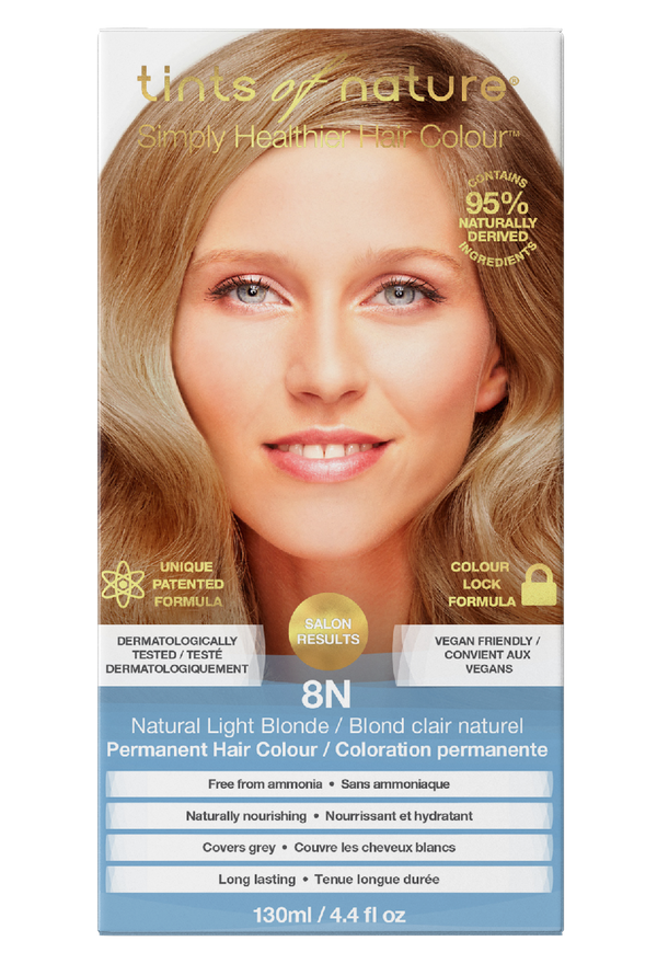 Tints of Nature Natural Light Blonde Hair Dye - 8N - Free of Ammonia Vegan Friendly