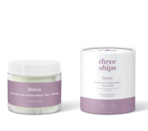 Three Ships Beauty Detox Green Tea Antioxidant Clay Mask