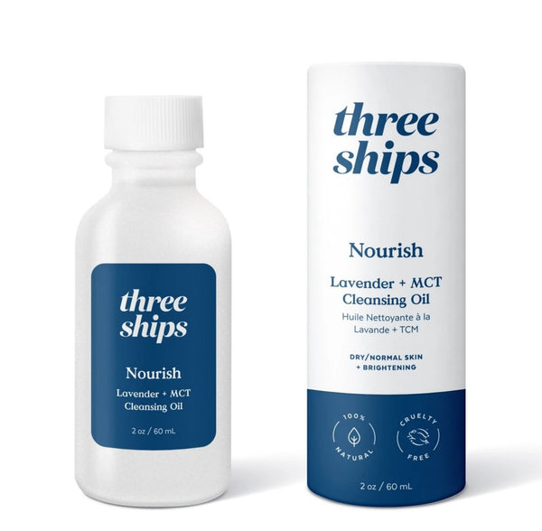 Three Ships Beauty Nourish Lavender + MCT Cleansing Oil