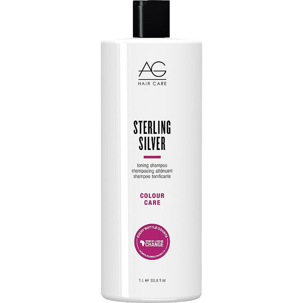 AG Hair Care Sterling Silver Toning Purple Shampoo For Silver White Grey Blonde Hair