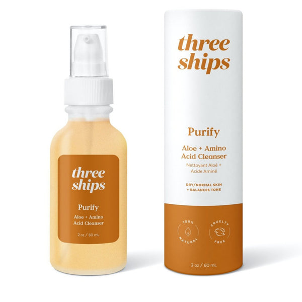 Three Ships Beauty Purify Aloe + Amino Acid Cleanser for face