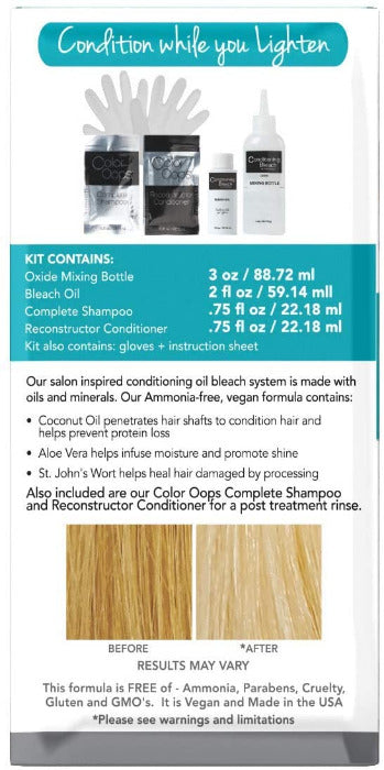 Color Oops Conditioning Hair Bleach Ammonia Free Kit