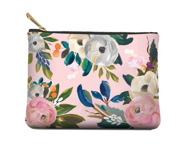 Studio Oh Bella Flora Zippered Pouch