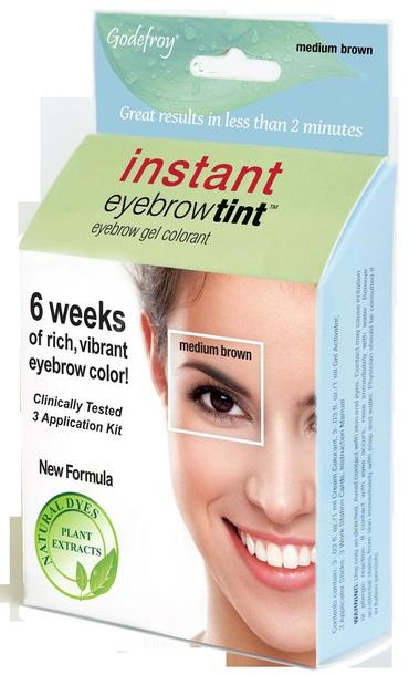 Godefroy Instant Brow Tint 28 Day - Dark Brown Medium Brown