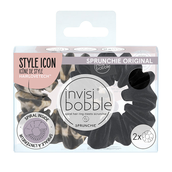 invisibobble® Sprunchie Multipack Black/Purrfection (2PC)