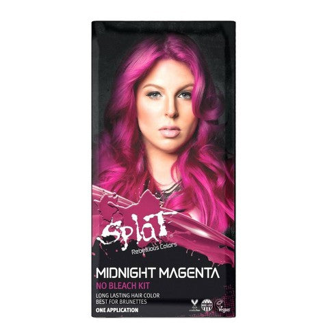 Splat Midnight Semi Permanent Complete Color Kit At Home Hair Dye For Brunettes  - Amethyst, Indigo, Ruby, Jade, Magenta, Violet