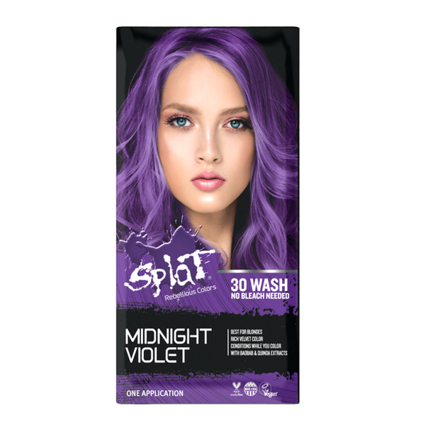 Splat Midnight Series Complete Color Kit At Home Hair Dye For Brunettes  - Amethyst, Indigo, Ruby, Jade, Magenta, Violet