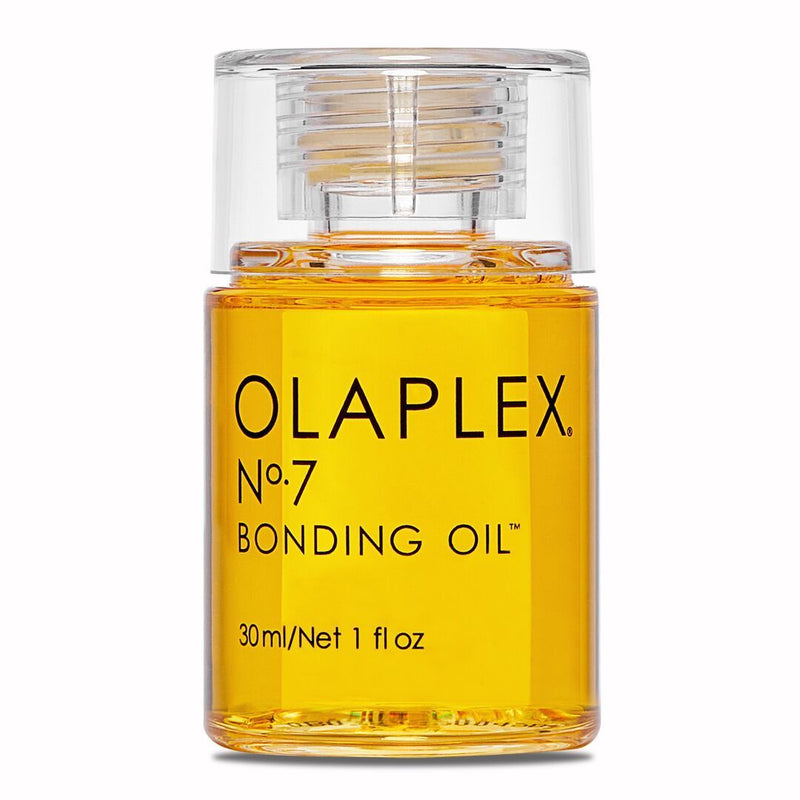 Olaplex #7- Bonding Oil;  A highly-concentrated, weightless repairative styling oil. Dramatically increases shine, softness, and color vibrancy