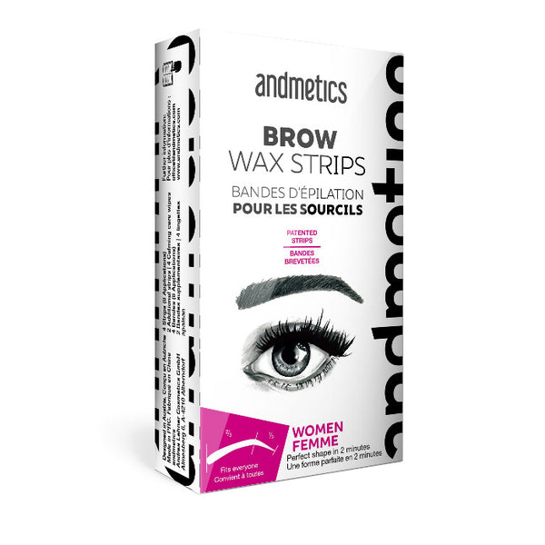 Andmetics At Home Wax Strips For Eye Brow