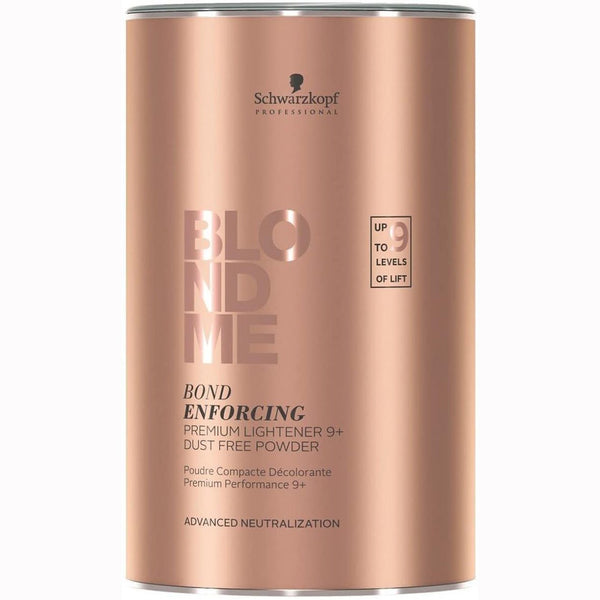 Blondme Bond Enforcing Premium Lightener 9+ is a high performance powder lightener. This is the first powder lightener to provide up to 9 levels of lift on natural and coloured hair.