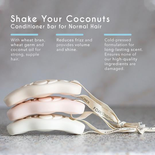 Foamie Conditioner Bar for Normal Hair - Shake your Coconuts