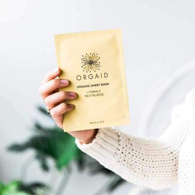 Orgaid Organic Vitamin C & Revitalizing Sheet Face Mask Skincare