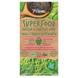 SuperFood Mud Face Masks - Matcha & Chia Clay Mask 7th Heaven