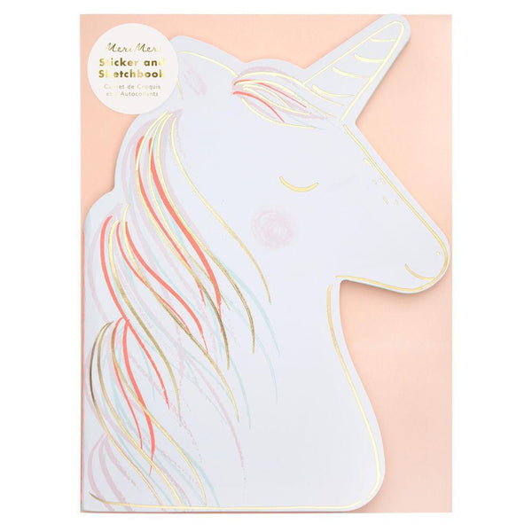 Meri Meri Unicorn Stickers & Sketch Pad
