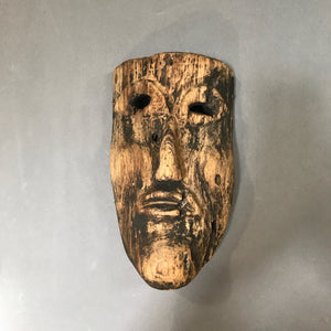 Antique Guerrero Mask - Danza Gachupín - Early 20th Cent.