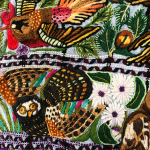 Huipil Embroidered birds