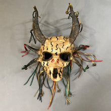 Load image into Gallery viewer, Leather Skull Mask w. Real Horns