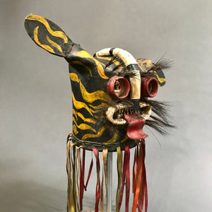 Vintage Leather Tigre Mask from Guerrero