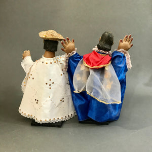 Pair of Vintage Hand Puppets (Títeres) from the Sierra Puebla