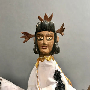 Pair of Vintage Hand Puppets (Titeres) from the Sierra Puebla