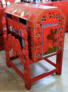 Antique Olinalá Lacquer Trunk on Original Base