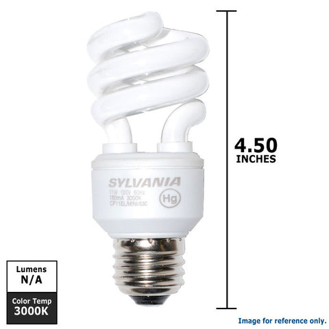 OSRAM SYLVANIA 11w Mini Twist Compact Fluorescent Light Bulb